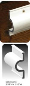 Dock Pro 8' Heavy Duty Vinyl Double Molded C-Shape Gard Dock Edging - Taylor Made