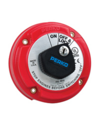 Ignition Protected Main Battery Switch with Key Lock - Perko