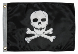 12X18 Jolly Roger Nylon Boat Flag - Taylor Made