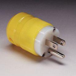 20A 125V Straight Blade Male Shore Power Plug - Marinco
