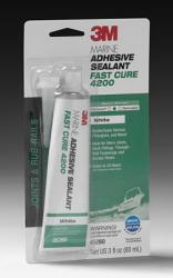 Marine Adhesive Sealant Fast Cure 4200 3oz White - 3M™
