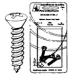 Oval Head Metal Screws, Phillips Head, 10X2, 100 - Handi-Man Marine