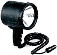 1,000,000 CP Candlepower Quartz Halogen NightBlaster Spotlight, Black - Optronics