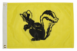 12X18 Skunk Nylon Boat Flag - Taylor Made