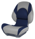 Centric II Boat Seat, Smoke & Blue - Attwood