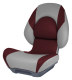 Centric II Boat Seat, Smoke & Burgundy - Attwood