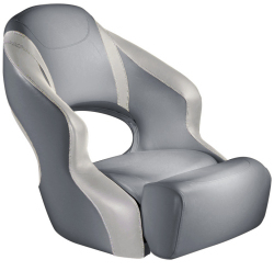 Aergo 240 Boat Bucket Seat with Bolster, Smoke & Off White - Attwood