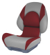 Centric II Boat Seat, Smoke & Red - Attwood