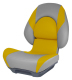 Centric II SAS Boat Seat, Smoke & Yellow - Attwood