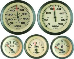 Sahara 4-Gauge Set, (Speed,Tach,Fuel,Volt) - SeaStar