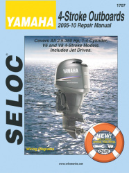 Yamaha Outboards 2.5-350HP 2005-2010 Repair Manual 1-4 Cylinder, V6, V8, All 4 Stroke Models - Seloc