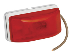 Waterproof Combination Side Marker & Clearance Light, Stud Mount, Red - Wesbar