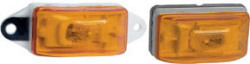 Waterproof Combination Side Marker & Clearance Light, Ear Mount, Amber - Wesbar