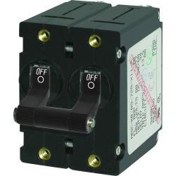 7234 A-Series AC Circuit Breaker Double Pole Toggle, 15A, Black - Blue Sea Systems