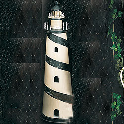 Wooden Lighthouse Model, Blue, 35