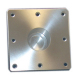 "Square Floor Plate, 6""X 6"" Flush Mount - Todd"