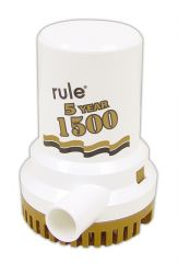 "Rule Gold Series Manual Bilge Pump 1500 GPH 1-1/8"" Port 12v"