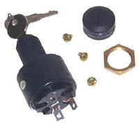 Replacement Ignition Switch, OFF-RUN-START, 3 Screw Tab, Short - MarineWorks