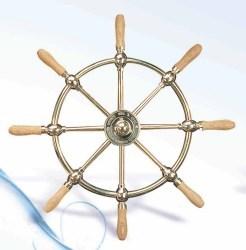 Boat Wheel, Brass, 24