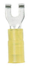 12-10, #8 Insulated Flanged Spade Terminals, Yellow, 5 - Ancor