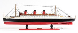 Queen Mary Ocean Liner Model Ship - Old Modern Handicrafts