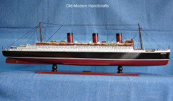 Queen Mary Ocean Liner Model Ship Small - Old Modern Handicrafts