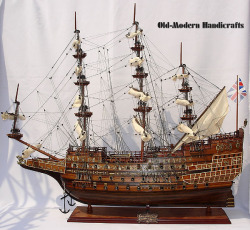 Sovereign Of The Seas Model Ship 1637 - Old Modern Handicrafts