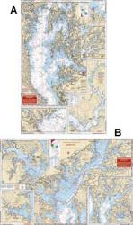 Northern Chesapeake Bay, Maryland Nautical Marine Charts - Waterproof Charts