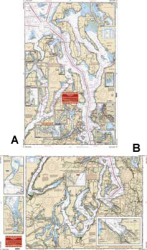 Puget Sound, Washington Nautical Marine Charts - Waterproof Charts