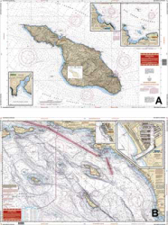 San Diego & Catalina, California Nautical Marine Charts - Waterproof Charts