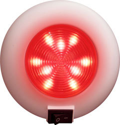 LED Surface Mount Accent Boat Light, 9 Red LEDs with Switch - Seasense
