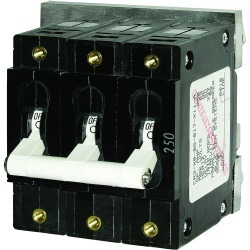 7271 300A C-Series Triple Pole Toggle DC Circuit Breaker - Blue Sea Systems