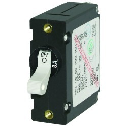 7299 A-Series Toggle AC/DC Single Pole Magnetic World Circuit Breaker, 8 Amp - Blue Sea Systems