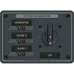 8358 AC Rotary Panel 230VAC 32A - Blue Sea Systems