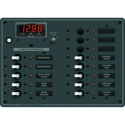 8403 DC Panel 13 Position with Multimeter - Blue Sea Systems