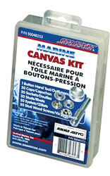 Canvas Fastener Kit, 101 Piece - Seasense