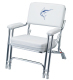 Anodized Frame Deck Chair with Weatherproof Sewn Cushions - Garelick