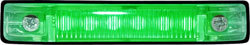 "6 LED 4"" Waterproof LED Utility Boat Strip Light, Green - Seasense"