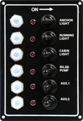 LED Switch Panel, 6-Gang - Seasense
