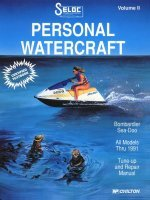 Sea-Doo Bombardier Jet Ski PWC 1988-1991 Repair Manual - Seloc