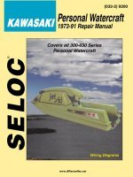 Kawasaki Jet Ski PWC 1973-1991 Repair Manual All 300-650 Series Personal Watercraft - Seloc