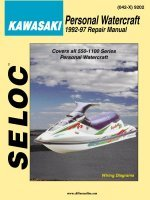 Kawasaki Jet Ski PWC 1992-1997 Repair Manual All 550-1100 Series Personal Watercraft - Seloc