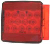 LED Square Submersible Boat Trailer Tail Light, Right - Seasense