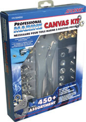 Canvas Fastener Kit, 450 Piece - Seasense