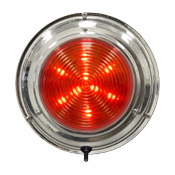 "LED Stainless Steel Boat Dome Light, 5-1/2"", Red/White 18 LED - Seasense"