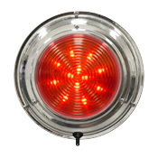 "LED Stainless Steel Boat Dome Light, 6-3/4"", Red/White 36 LED - Seasense"