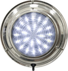 LED Stainless Steel Boat Dome Light, 7
