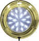 """LED Brass Dome Boat Light, 5-1/2"""", White 20 LED - Seasense"""