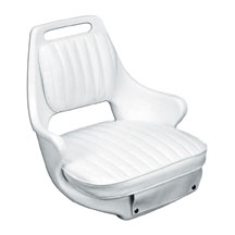 White 2071 Chair, Cushion Set, and Mounting Plate - Moeller
