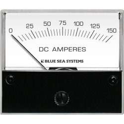 "8018 DC Analog Ammeter, 2-3/4"" Face, 0-150 Amperes DC - Blue Sea Systems"